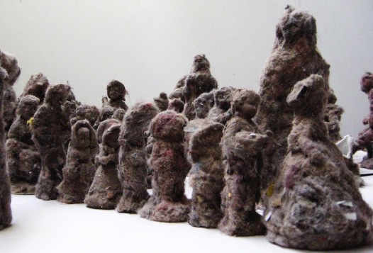 Ask Freud, 2018: dust, ceramic, plaster